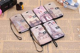 Wholesale Buy Leather Wallet - Retro Monuments Flip Leather Wallet Case cover PU Flip Case cover with Card Slots Stand For iPhone 5 5G