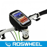 Wholesale Bicycle Iphone5 - Storage Bags ROSWHEEL 11810 Bike Touch Screen Phone Case Accessories Bicycle Frame Front Tube Bag for 5.0inch cellphone S4 S3 iphone5