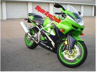 Wholesale Kawasaki 636 Fairings Set - green Fairing set for Kawasaki Ninja ZX6R 98 99 ZX 6R 1998 1999 ZX-6R 98-99 Ninja 636 6R ABS Fairings set+7gifts KL88