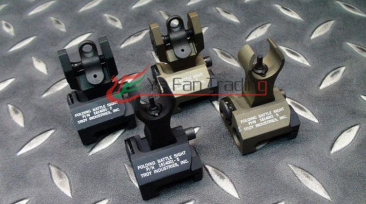 Outdoor-Ausrüstung Airsoft Zubehör Troja vorne und hinten falten Schlacht Eisen Sehenswürdigkeiten für M4 Kostenloser Versand