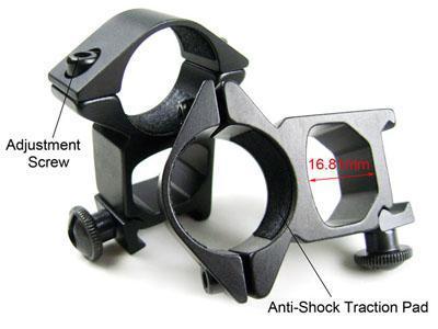 Taktische 2 x 25mm 1-Zoll-Ring-Zielfernrohrmontage 20mm Weaver-Schiene picatinny