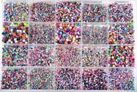 Wholesale Resin Rings Free Shipping - Lot 210PCS Body Jewelry Piercing Eyebrow Navel Belly Tongue Lip Bar Ring 21Style Free Ship [BA01-BA21m(210)]