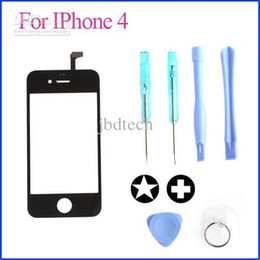 Iphone Touch Screen Digitizer Glass Canada - High quality replacement touch screen LCD digitizer glass Lens for iphone 4 with Tools 100Pcs Lot