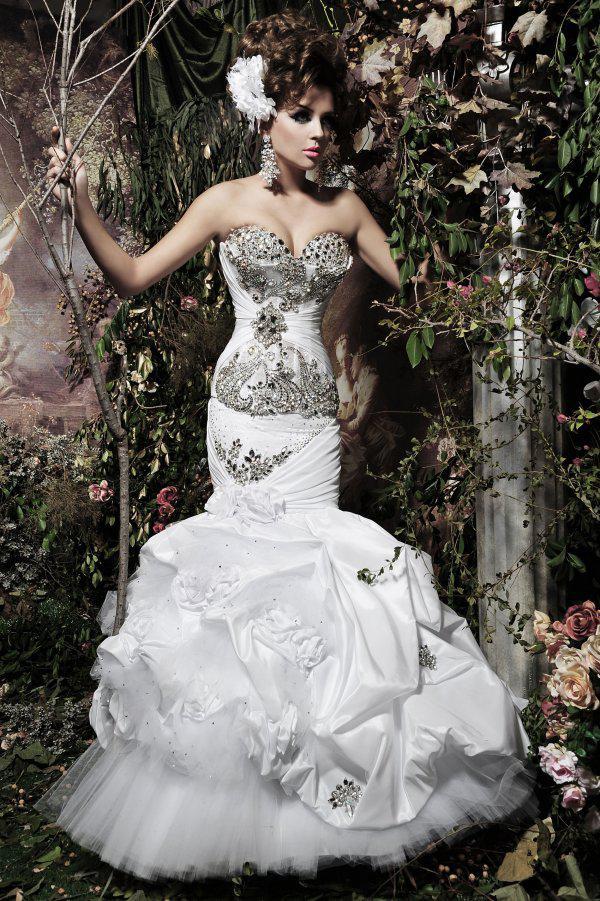 Hochzeitskleider 2016 Frühling Wunderschöne Kristall Hot Sexy Elegent Schatz Liebsten Brautkleider Meerjungfrau Kleider Brautkleider