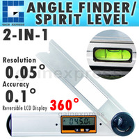 Wholesale Spirit Level Angle Finder - AG-82302 Multifunction Waterproof Digital Angle Finder Gauge Protractor Meter Bubble Spirit Level 360 degree Analog Quadrant Display
