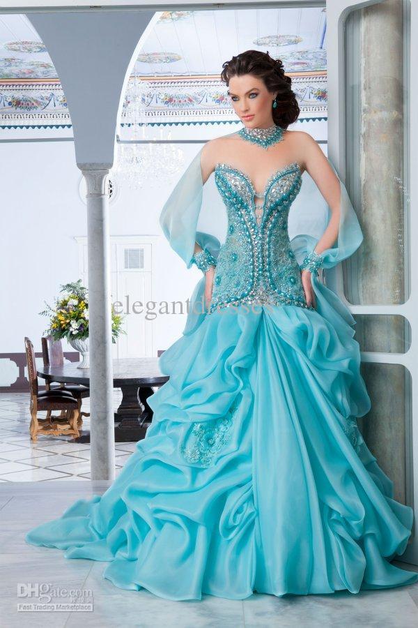 NEUER luxuriöser herrlicher a-line Schatz der Ankunft 2019 Sleeveless wulstige Hochzeitskleider einzigartige Brautkleider Araber 001