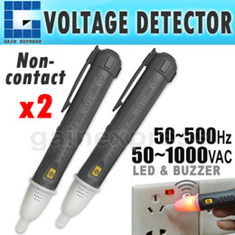 Wholesale Contact Voltage Detector Pen - N03NF-608 2 pieces x 50~1000V AC Non-Contact Electric Electrical Power Voltage Circuit Tester Detector Sensor Pen Probe Stick Volt Alert