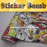 Wholesale Sticker Bombing Mirrors - Amazing Style! Aminal Sticker Bomb Vinyl Air 30m Length For Car Wrapping Size:1.50*30m Roll