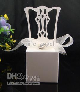 Gloden Sliver White Chair Candy Boxes New Candy Favors Novelty Wedding Favors Favor holders 50pcs/lot Wedding Candy package Theme Party
