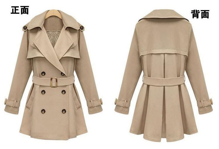 Femmes Trench Coats Mode Femmes Double Breasted manteaux de poussière Sexy Girls V-Cou Trench manteaux Long Sleeve Casual Surcoats Avec Waistbands