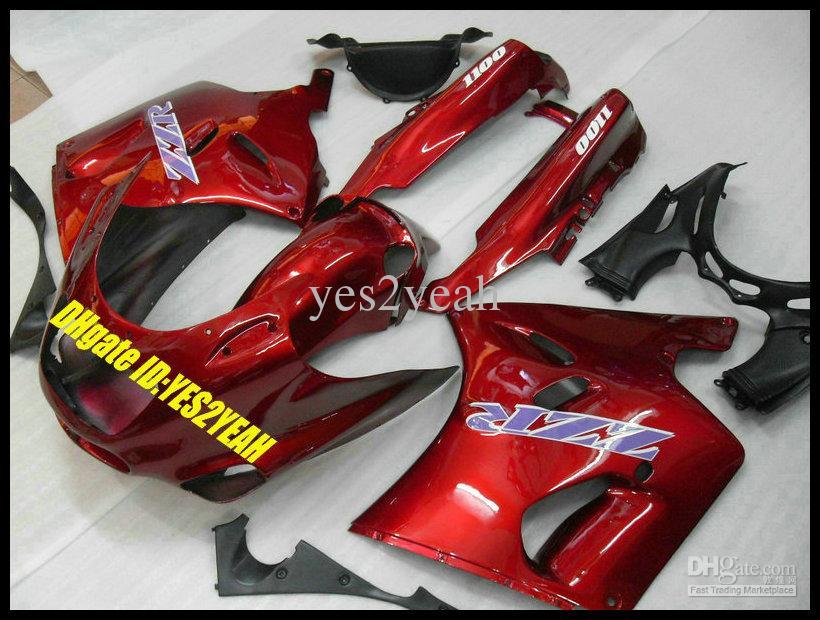 Verkleidungskörper-Kit für KAWASAKI Ninja ZZR1100 93 94 00 01 03 ZX11 1993 2001 2003 ZZR1100D ZX11 Motorrad-Verkleidungskörper + Geschenke ZD41
