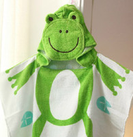 Wholesale Towelling Bathrobe For Kids - baby hooded bathrobe bath towel bath terry.bathing robe for children kids infant mixed 10cs lot #3049