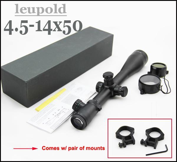 Leupold 4.5 -14x50 Mk 4 밀 도트 조명 소총 범위
