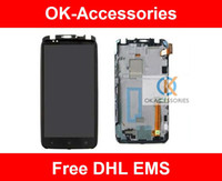 Wholesale One X Screen Lcd - Touch Screen With Frame Display + LCD Display Completed Assembly For HTC One X S720e G23 1PC Lot