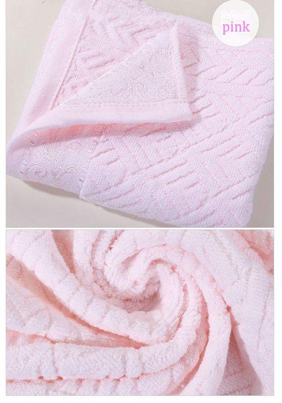 katoenen gezicht handdoek mode washandje handdoek facecloth 34 * 75cm 100grams 6 stks / partij roze crème blauw