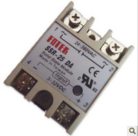 Wholesale Dc Ssr - FREE SHIPPING 5PCS 25A actually ! Manufacturer 25A SSR,input 3-32V DC output 24-380V AC single phase solid state relay SSR-25DA