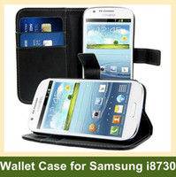 Wholesale Galaxy Express Covers - Wholesale New Wallet Case for Galaxy Express i8730 Folding Leather Flip Cover Case for Samsung Galaxy Express i8730 Free Shipping