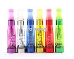 Wholesale Ego Ce4 Full Color - Wholesale - Full color CE4 Clearomzier for eGo Electronic Cigarette 1.6ml Changeable Mouthpiece Atomizer with 4 Long Wick