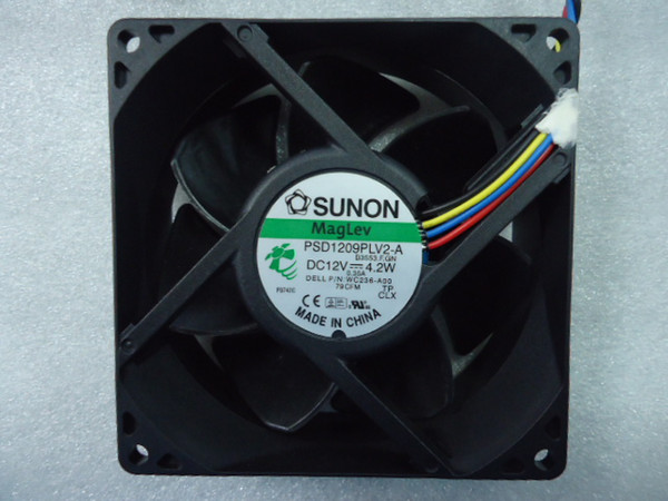 best selling Free Shipping SUNON PSD1209PLV2-A B3553.F.GN DC12V 4.2W Server Cooling Fan 4-wire PWM 90x90x32mm For DELL: WC236-AOO