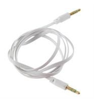 Wholesale speaker for mobile cord online - 3 mm Jack Audio Aux cable Male to Male Recorded Wire Cord Stereo Cable for Mobile Cellphone Speaker MP3 Ipod