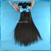 """Wholesale 5a Grade Pc - Unprocessed Malaysian Hair Extensions Weft Virgin Straight Hair Weave 5A Grade Same Length 4 pcs  lot 8""""- 34"""" 1B Color"""