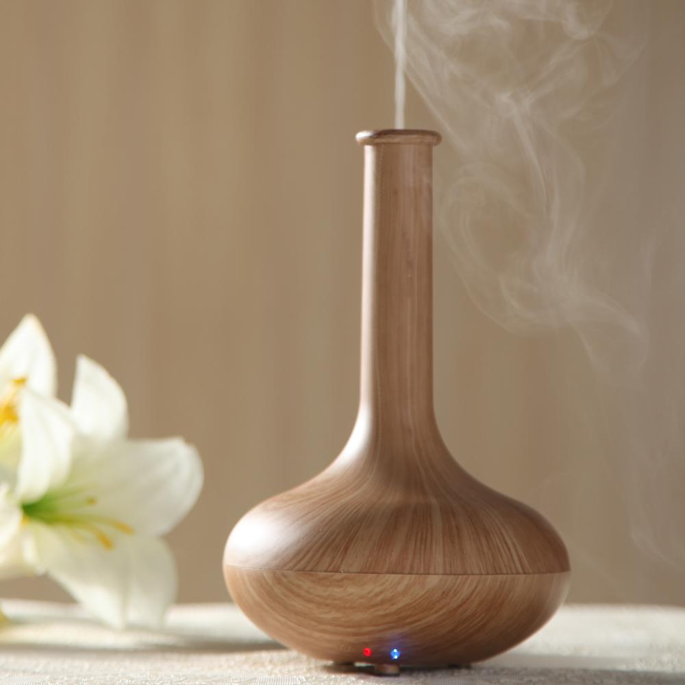 2019 New Aroma Diffuser 160ml Woodgrain Vase Shaped