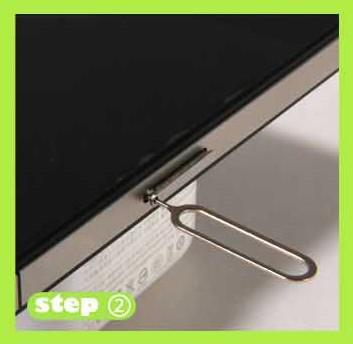 Sim Karten-Behälter-Halter stoßen Pin-SIM-Kartenfach iphone Werkzeuge freies Verschiffen