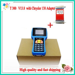 Wholesale Fast Peugeot - 2013 Best Quality T300 key programmer English V13.8 with Chrysler 138 Adapter and fast shipping