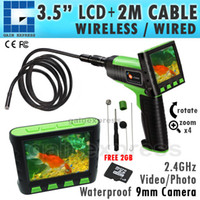 """Wholesale Endoscope Lcd 9mm - VID-12_2M Wireless 3.5"""" TFT LCD Video Inspection Snake Scope Borescope  Endoscope  Camera 2M Cable with 9mm Diameter Slim Camera"""