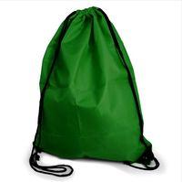 zikzaklı okul çantası toptan satış-SıCAK Taşınabilir Dize Çanta İpli Sırt Çantası Spor Swim Okul Dans Ayakkabı Boot PE İpli Çanta Sırt Çantası