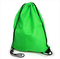 mochilas con cordón al por mayor-NUEVO gimnasio, escuela de natación, zapato de baile, bota, PE, bolso con lazo, mochila, bolso portátil con cordón, mochila con cordón