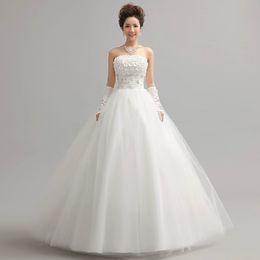 Wholesale Sweet Princess Bride Wedding Dress - New 2013 wedding dresses sweet princess strapless wedding dress bride flowers to bind