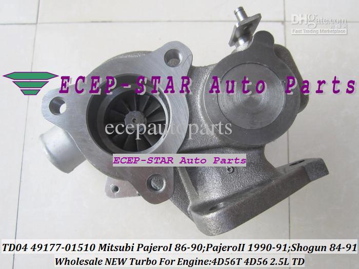 Ölgekühlter Turbo TD04-9B-4 49177-01500 MD094740 Für Mitsubishi Shogun 1984-91 Pajero I 1986-90 4D56 Pajero II 1990-91 4D56T Turbolader