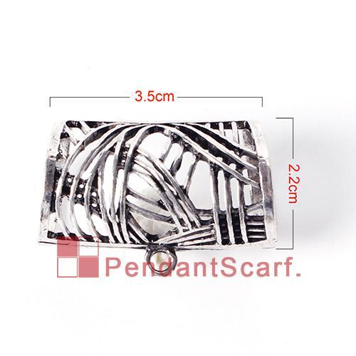 / Mode Chaude DIY Bijoux Écharpe Pendentif Nouveau Style Mental Alliage Creux Out Charme Porte-Glace Tube Bails, Livraison Gratuite, AC0229