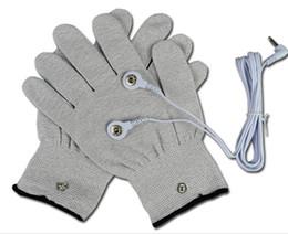 Серебряные проводящие перчатки для использования с иглоукалыванием EMS/Tens Machine электронные стимуляторы - массажный электрод goloves с кабелем 2pairs от