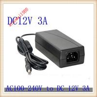 adaptador de corrente alternada 12v 36w venda por atacado-12V 3A 36W AC / DC Adaptador de energia para conector do adaptador 2.1 2.5 Carregador PSU