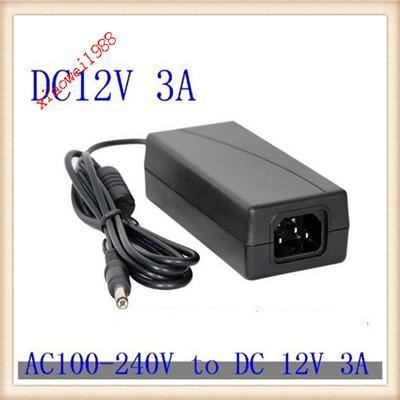 12 V 3A 36 W AC / DC Güç Adaptörü adaptör konektörü için 2.1 2.5 Şarj PSU