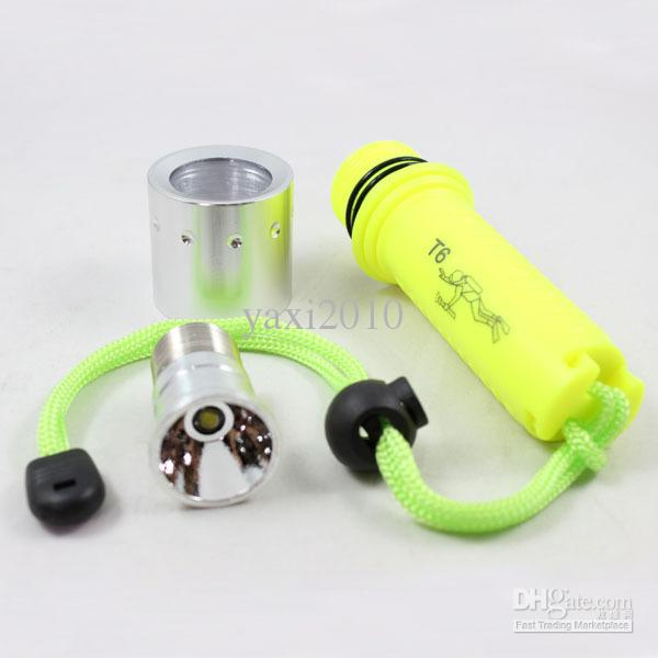 Diving 1600LM CREE XM-L T6 LED Flashlight Waterproof Torch+2 x 18650 Battery+Charger