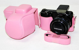 Camera Straps NZ - New leather camera case bag for Samsung NX2000 Pink
