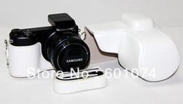 $enCountryForm.capitalKeyWord Canada - New leather camera case bag for Samsung NX2000 White