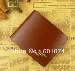 Wholesale Christmas Gift Packs Sale - Hot Sale Men's Business Delta Short Genuine Leather Wallet Gift Box Packing