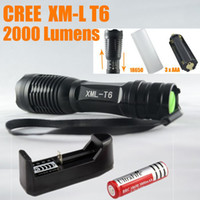 UltraFire E6 Mini Flashlight 2000LM Zoom In Out CREE XM- L T6...