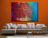 Wholesale Heavy Textured Canvas Art - 100% handpainted modern oil painting wall art canvas home decoration heavy textured unique gift high quality