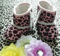Wholesale Toddlers Leopard Print Boots - Cute baby boots Infant girls toddler baby shoes Leopard print boot Children Winter Boots Baby First Walker Shoes 8 colors 12 pairs lot
