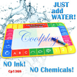 Wholesale Musical Water - Christmas gift for CHildren holiday sale In Stock CP1368 45X29cm Water Doodle Mat with 1 Magic Pen Drawing Toys Mat  Aquadoodle Drawing Mat
