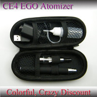 Wholesale Ego Ce4 Cases - E-Cigarette CE4 Starter kit EGO battery 7 Colors clearomizer Atomizer+USB Charger+Zipper Case+Liquid bottle 650mah 900mah 1100mah 30pcs New