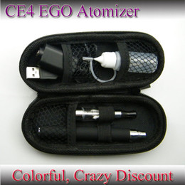 Wholesale Ego Battery Ce4 Colors Charger - E-Cigarette CE4 Starter kit EGO battery 7 Colors clearomizer Atomizer+USB Charger+Zipper Case+Liquid bottle 650mah 900mah 1100mah 30pcs New