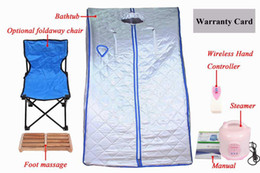Feet sauna online shopping - Folding home use Sauna Steam Body Relax Weight Loss Foot Massage SPA Sauna Slimming Detox Machine Sauna Box