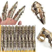 Punk Cool Rings Fashion Vintage Gold Armour Knuckle Finger L...