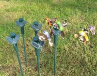 ingrosso giardino della farfalla-HOT New Colibrì solare, farfalle giocattoli da giardino, giocattoli educativi illuminanti per studenti solari e batteria combo.GIFT